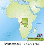 map of democratic republic of... | Shutterstock . vector #171731768
