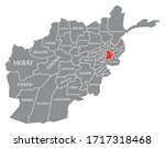 laghman red highlighted in map... | Shutterstock .eps vector #1717318468