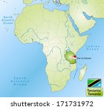 map of tanzania with main... | Shutterstock . vector #171731972