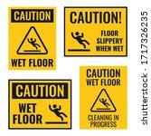 wet floor danger caution sign...   Shutterstock .eps vector #1717326235