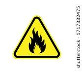 Fire Danger Sign. Vector...