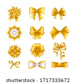 realistic tie bow accessories... | Shutterstock .eps vector #1717333672