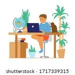 homeschool or online education. ... | Shutterstock .eps vector #1717339315