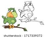 cute cartoon character owl.... | Shutterstock . vector #1717339372