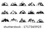 mountain icon set  15... | Shutterstock .eps vector #1717365925