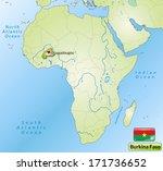map of burkina faso with main... | Shutterstock . vector #171736652