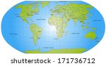 map of world with main cities... | Shutterstock . vector #171736712