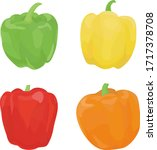 four different colored paprika...   Shutterstock .eps vector #1717378708