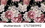 seamless floral pattern with... | Shutterstock . vector #1717385992