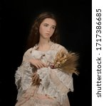 Oil Painting Of A Young Lady...