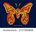 butterfly. gothic abstract... | Shutterstock .eps vector #1717390858