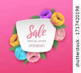 sale background with beautiful... | Shutterstock .eps vector #1717420198