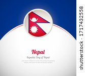 nepal happy republic day with... | Shutterstock .eps vector #1717432558