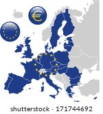 european union map | Shutterstock .eps vector #171744692