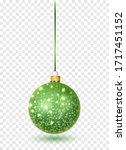 Green Glitter Christmas Ball...