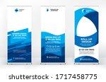 creative set of advertising... | Shutterstock .eps vector #1717458775