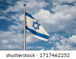 Flag Of Israel Over The Masada...
