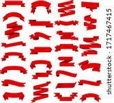 red ribbon isolated white... | Shutterstock .eps vector #1717467415