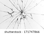 Broken Glass White Background
