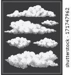 chalkboard vintage clouds... | Shutterstock .eps vector #171747962