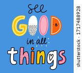 see good in all things  vector...   Shutterstock .eps vector #1717488928