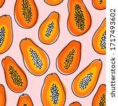 abstract papayas summer vibes...   Shutterstock .eps vector #1717493602