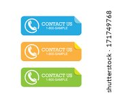 set of contact paper sticker... | Shutterstock .eps vector #171749768