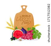 international day without meat. ... | Shutterstock .eps vector #1717512382