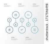 eco icons line style set with... | Shutterstock .eps vector #1717546498
