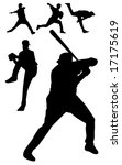 vector of baseball players | Shutterstock .eps vector #17175619