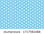 White Dot Pattern With Blue...