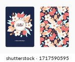 cover design with floral... | Shutterstock .eps vector #1717590595