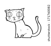 cartoon cat | Shutterstock . vector #171760082