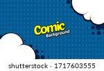 retro comic background halftone ... | Shutterstock .eps vector #1717603555