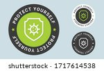 protect yourself stamp vector... | Shutterstock .eps vector #1717614538