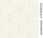 damask flower pattern in vector ... | Shutterstock .eps vector #1717620115