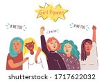support for young women which... | Shutterstock .eps vector #1717622032