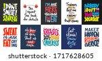set of 10 motivational and... | Shutterstock .eps vector #1717628605