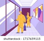 covid 19 public space... | Shutterstock .eps vector #1717659115