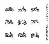 Simple Set Of Motorcycle...