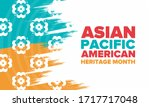 asian pacific american heritage ... | Shutterstock .eps vector #1717717048
