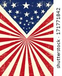 an american vintage flag with a ... | Shutterstock .eps vector #171771842