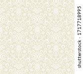 seamless floral wallpaper in... | Shutterstock .eps vector #1717718995