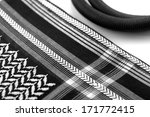 a close up image of a ghutrah... | Shutterstock . vector #171772415