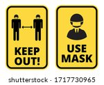 covid 19 keep safe distance and ... | Shutterstock .eps vector #1717730965