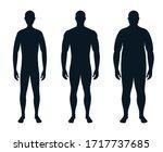 full length male silhouette....   Shutterstock .eps vector #1717737685