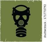 Gas Mask On Old Background Wit...