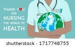 thank you for nursing the world ... | Shutterstock .eps vector #1717748755