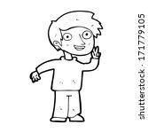 cartoon boy posing for photo   Shutterstock . vector #171779105