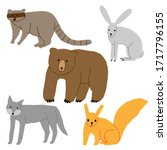 collection of wild animals... | Shutterstock .eps vector #1717796155